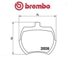 P52002 Kit pastiglie freno, Freno a disco (MARCA-BREMBO)