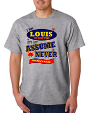 Bayside Made USA T-shirt Am Louis Save Time Let's Just Assume Never Wrong