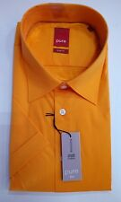 Pure Camicia Maniche Corte Colletto Kent Taglia M 39/40 forte Orange STRETCH SLIM FIT