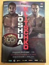 ANTHONY JOSHUA VS WLADIMIR KLITSCHKO (OFFICIAL PROGRAMME) (29/04/2017) @WEMBLEY