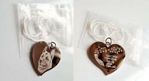 Photo Engraved Personalised Memorial / Funeral Gift - Pet loss pendant