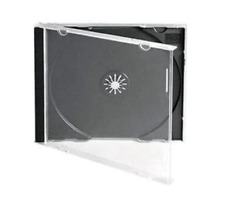50 CD JEWEL CASES COMPLETE WITH BLACK TRAYS / GRADE A - 10.4 mm SPINE - NEW