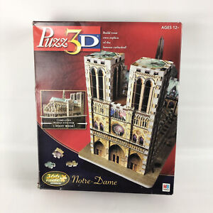 Puzz 3D Notre-Dame 366 Pieces Wrebbit Puzzle 2005 Gently Used Hasbro MB
