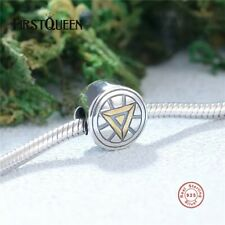 Marvel Iron Man Arc Reactor Charm s925 Sterling Silver