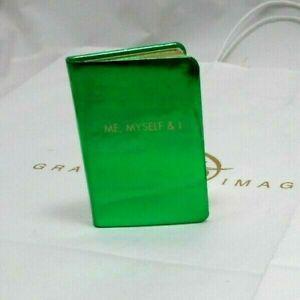 "Henri Bendel Mini Book ""Me, Myself & I"" Green Patent Leather cover"