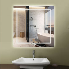 Extra Large Bath Mirrors Anti Fog Touch Led Makeup Mirrors Memorized Lighting On