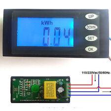 AC 110v 220v  Digital LED Voltage power meter watt energy KWh time Volt Ammeter