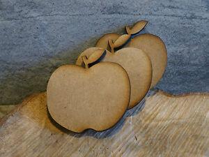 Wooden apple shaped craft blank embellishment