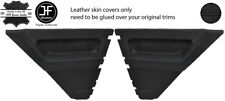 BLACK STITCH 2X REAR DOOR CARD LEATHER COVERS FOR RENAULT 5 CAMPUS 3 DOOR