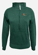Womens Miami Hurricanes Half Zip Pullover Jacket M Alta Gracia