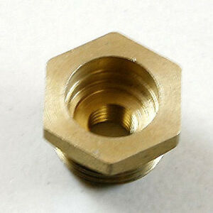 Rcexl 10mm to 1/4-32mm Spark Plug Copper Bushing Adapters