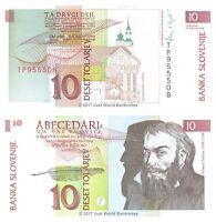 Slovenia 10 Tolarjev 1992 P-11 Banknotes UNC