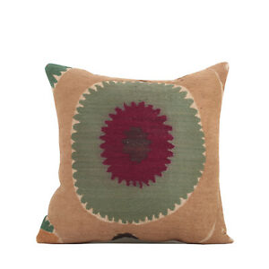 "15"" x 15"" Pillow Cover Suzani Pillow Cover Vintage FAST Shipment With UPS 10073"