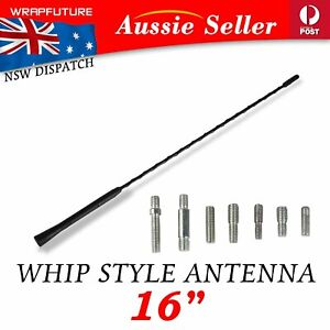 Screw-on 41cm Antenna Whip Mast Aerial Waterproof For Mitsubishi Lancer 2002-09