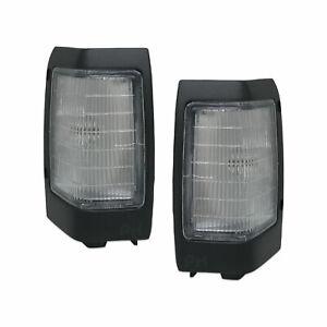 Nissan Navara D21 Ute 92-96 PR 1xLH 1xRH Dark Grey Trim Corner Park Lights New