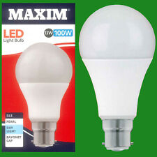 4x 13W (= 100W) GLS BC B22 A60 LED Lámpara Bombilla, 6500K Luz Blanco 1520Lm