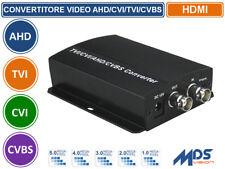 CONVERTITORE VIDEO DA AHD/CVI/TVI/CVBS A HDMI/BNC INPUT 5MP/4MP/3MP/2MP/1MP