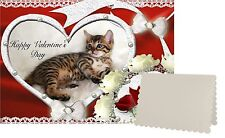 Bengal Cat C5 Valentines Day Card Design VBENGAL-1 by paws2print