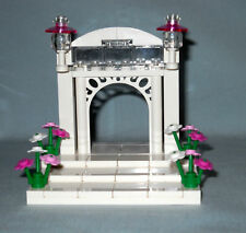 NEW CUSTOM LEGO WEDDING ARCH & STAIRS CAKE TOPPER FOR BRIDE AND GROOM MINIFIGS