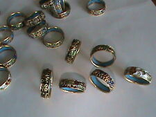 18 Super Vintage Cloisonee Rings Mix Color & Size Enamel Inside & Out All MINT