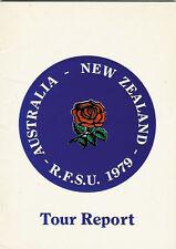 RFU - RFSU 1979, AUSTRALIA, NEW ZEALAND, TOUR REPORT ENGLAND RUGBY BOOKLET