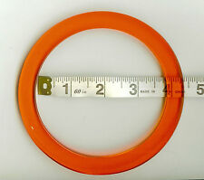 Pair (2) of Circular Shaped Bag Handles for Knitting or Sewing (Orange)