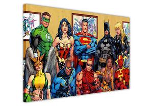 DC SUPERHEROS COMIC CANVAS PRINTS POP ART / WALL ART / PICTURES BATMAN SUPERMAN