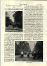 1896 IL SIGNOR Samuel Pepys come un ciclista Guernsey marketplace ieri oggi