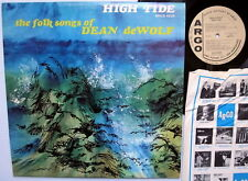 folk songs of DEAN deWOLF high tide YELLOW LABEL PROMO