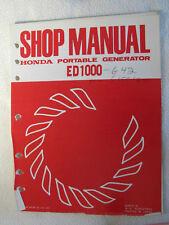 ED1000 Honda Portable Generator Shop Service Manual