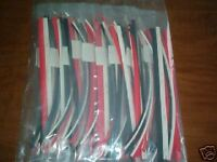 "90 FEET OF HEAT SHRINK TUBING ASSORTED SIZES AND SIZES 12"" pcs 1/8"" 3/16"" 1/4"""