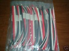 """90 FEET OF HEAT SHRINK TUBING ASSORTED SIZES AND SIZES 12"""" pcs 1/8"""" 3/16"""" 1/4"""""""