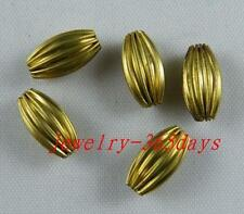 200pcs Copper Barrel Shaped Spacer Beads 11x6mm s181