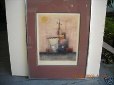 Roman Boat &Sun limited lithograph print by Marka