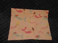 "Pottery Barn Kids Pillow Sham Preppy Breton Mermaid Standard 20""x26"" White Pink"