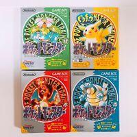Pokemon Green Red Yellow Blue set Pocket Monsters GameBoy GB Japan Game