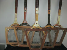 Lot Of 6 Wood Tennis Racquets