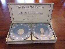 Vintage Wedgwood State Seal Series collector plates, set #1, Virginia, Nib