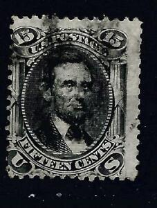 K210 USA lincoln scott 91 grill $625 bargain priced classic civil war era stamp