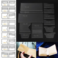 13Pcs Clear Acrylic Wallet Pattern Stencil Template Sets Leather Craft DIY Tool