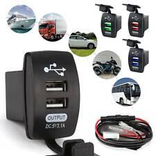 Wasserdicht Auto Steckdose USB Ladegerät Buchse 3,1A für Motorrad KFZ Einbau
