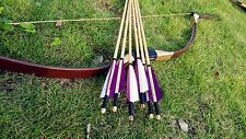 Chinese Mongulian bow  set Archery Longbow Recurve Bow 20-60lb +6 wooden arrows