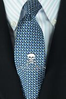 Lord R Colton Studio Tie - Navy Black & White Dot Silk Necktie - $95 Retail New