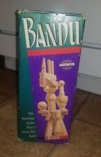 Bandu Hardwood Pieces Stacking Game, By Milton Bradley 1991.