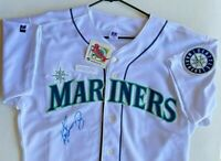 Ken Griffey Jr. Autographed Seattle Mariners Home Jersey Russell 48 With Tags