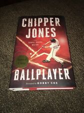 CHIPPER JONES SIGNED AUTOGRAPHED BOOK BALLPLAYER 1st/1st BRAVES - READY TO SHIP