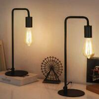 Set of 2 Gooseneck Table Lamp Nightstand Lamp Bedside Lamp Bedroom Office Black