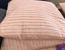 HABITAT Bailey Pink Ribbed Velvet Cushion 60 X 60cm ONLY £30.00 FREE P&P