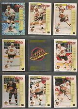 1992-93 Panini Hockey Stickers Vancouver Canucks Team Set (16)