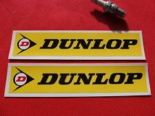 "Pair of Dunlop 8"" stickers Yellow"